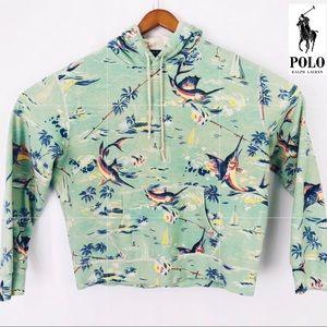 Rare polo Ralph Lauren marlin fishing hoody